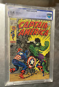 Captain America 110 Nm 9.4 Cbcs 1st Appearance Madame Hydra Silver Age Hulk