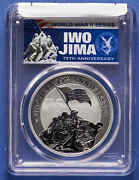 2020-p Tuvalu 1 Oz .999 Silver Iwo Jima 75th Ann Pcgs Ms70 First Day Of Issue