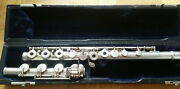 Armstrong Heritage Sterling Silver Flute Offset G Open Hole B Foot No Headjoint