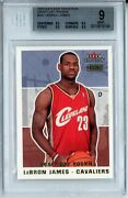 2003-04 Fleer Tradition Draft Day Rookie /375 Lebron James Rc Bgs 9
