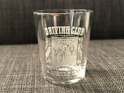 Rare Pre-prohibition Shot Glass Driving Club Whiskey L.khan And Co. Cleveland Vtg