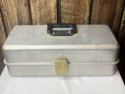 Vintage Umco Model 173a Aluminum Tackle Box For Fishing Lures And Baits