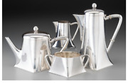 A057 4 Piece Germany Koch And Bergfeld Transitional Silver Tea And Coffee Set.1884