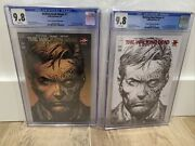 Walking Dead Deluxe 1 Bandw Red And Gold Foil Set Cgc 9.8 Finch Le 2nd Print Second