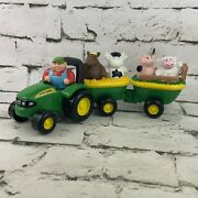 Ertl John Deere Animal Sounds Hayride Set Toy Tractor Wagon Farmer Farm Animals