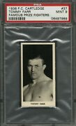 1938 F.c. Cartledge 37 Tommy Farr Psa 9 Mint Pop 6 No 10and039s Famous Fighters