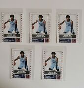 5 X Rookie Card Ja Morant Nba Panini 444 Sold Out Great Investment