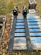 Hla Heavy Duty Clamp On Pallet Forks For Bucket Loader New