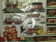 Vntg 1994 New Bright Holiday Express Candy Dancer Musical Bears Battery Operated