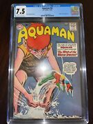 Aquaman 10 - Cgc 7.5 Vf- Ow/w Pages Quisp And Quirk Appearance. 1963