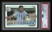 2014 Panini Prizm World Cup Lionel Messi Net Finders Silver Psa 9 Mint