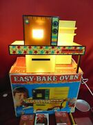 Vintage Kenner Easy Bake Oven W/box Pans Cake Mix Boxes Instructions Cookie Cut