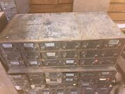 1 Qty Vintage Equipto Usa 18 Drawer Metal Parts Cabinet -17 Deep Drawers
