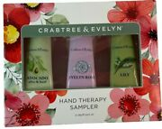 Crabtree And Evelyn Hand Therapy Sampler With Avocado Evelyn Rose And Lily
