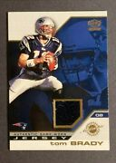 2002 Pacific Tom Brady Rookie Year Jersey Patch 27 Nfl Great Patriots
