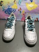 Nike 315122-141 Af1 White Aqua Pink Basketball Sneakers Shoes Men's Us Size 10