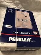 Peerless Tub And Shower Faucet Set Model P71 Chrome Old New Stock