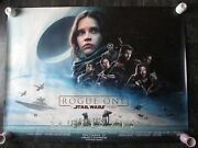 Rogue One Original Uk Quad Movie Poster 2016 D Sided Star Wars Cinema Poster