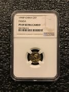 1990-p China 5 Yuan Panda 1/20 Oz Gold Coin Ngc Proof 69 Uc