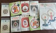Lot Of New Old Stock Small Craft Kits Christmas Holiday Ornaments Kids Crafts