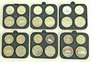 Commemorative 1976 Canada Montreal Olympic Games Set Of 24 Silver Coins 5 10