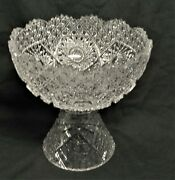 Beautiful Cut Glass Punch/toddy Bowl On Stand