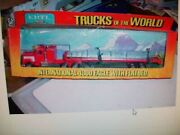 Ertl 1412 Trucks Of The World International 4300 Eagle Truck And Flatbed Vgc