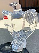 Baccarat France Clear Crystal American Eagle Figurine Hand Signed By Top Artist