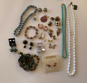 Lot Of Wearable New And Vintage Jewelry Costume Fashion Necklace Earrings Bracelet