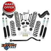 Rl 69-6404 4and039and039 Coil Spring Kit With Track Barbracketshocks For 2007-18 Jeep Jk