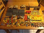 Vintage Superior / T Cohn No. 47 Fort Comanche Western Toy Playset / Tin Fort