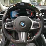 Real Carbon Fiber Led Performance Steering Wheel For Bmw M5 M6 F10 F18 F01 F02