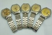Vintage Solvil And Titus Geneve 9301 Tuning Fork 9162 Lot Of 5 Watches For Parts