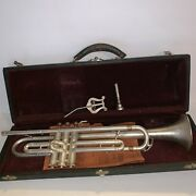 Rare Trumpet Crusader Usa Vintage Trumpet With Stand And Case