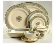 Lenox Autumn China W/gold Band And Logo For 8 + Serving + Andnbspbelleek Pieces