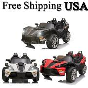 Electric Car Kids Ride On Toy 12v Battery Powered Cars W/remote Control, Mp3
