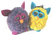 Lot Of 2 2012 Hasbro Furby Friends Purple And Yellow Clean But Not Working