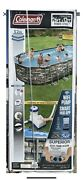 Coleman 26ft X 12ft X 52in Power Steel Oval Pool Complete Set New