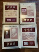 Thomas Jefferson U.s. Five Cent Collection Mint Sets 4 Sets And Stamps Nickel Coin