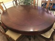 Vintage Large 82 X 60 Oval Solid Mahogany Display/dining Table