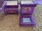 Polly Pocket Glitter Winter Ski Skate Lodge Pieces Replacement Part Pond Rink