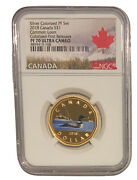2018 Canada Proof Common Loon Dollar Silver Ngc Pf70 Colorized Fr Rare