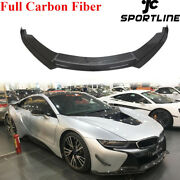Fit For Bmw I8 Coupe 2014-2018 Front Bumper Lip Spoiler Chin Real Carbon Fiber