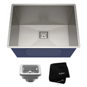 Undermount Single Bowl Stainless Steel Laundry Utility Kitchen Sink 24in. 18g