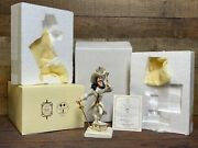 Disney Lenox Peter Pan's Capt Hook And Tinker Bell Where's Pan Le 500 Mib New