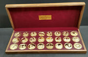 24 Medals 24kt Gold Plated Sterling Silver Life Of Jesus Series Limited Edition