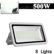 8 X500w Led Floodlight Outdoor Security Waterproof Bright Garden Lamp 50000lm Us
