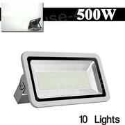 10x500w Led Floodlight Outdoor Security Waterproof Bright Garden Lamp 50000lm Us