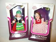 Vintage Dream Maker Dolls Of All Nations - Set Of 2 Dolls From Italy And Spain