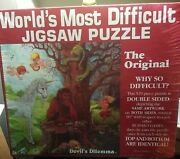 The World's Most Difficult Jigsaw Puzzle Vtg 1989 The Original Devil's Dilemma